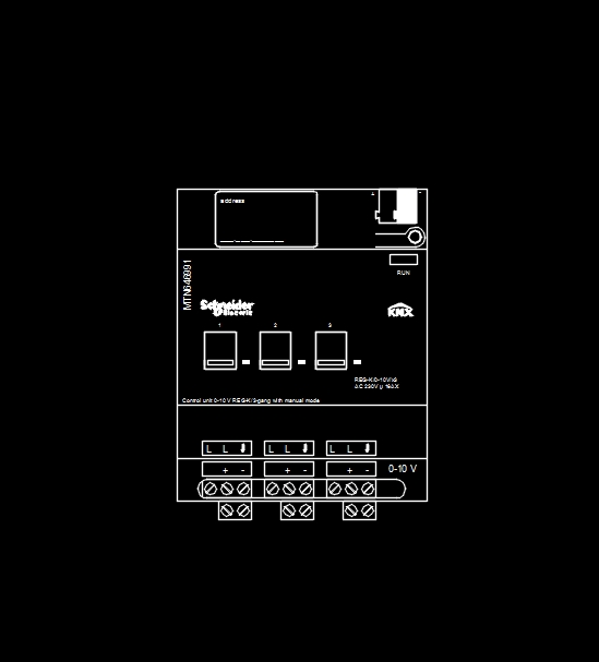 Detail binary actuator schneider electrioc for knx control