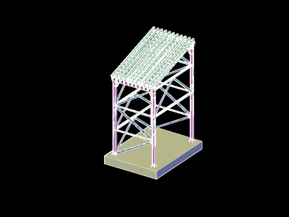Structure grill primary chnacado 3d