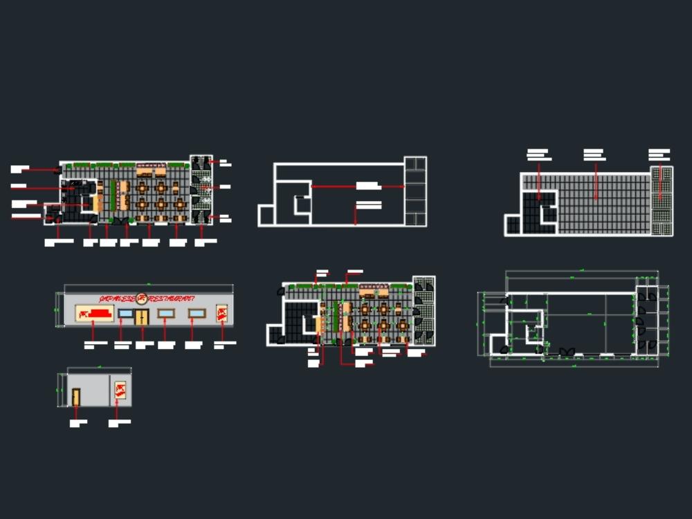Japanes restaurant architectural
