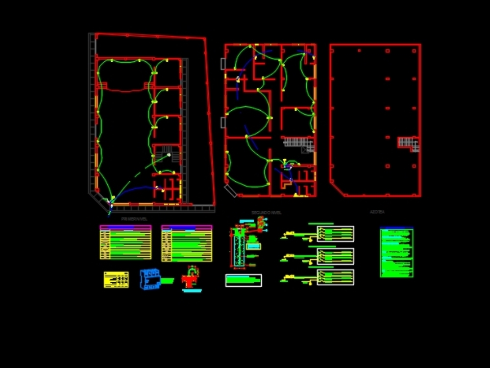 Electrical installations of a room