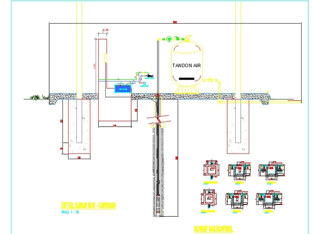 Design pump submersible deep well over