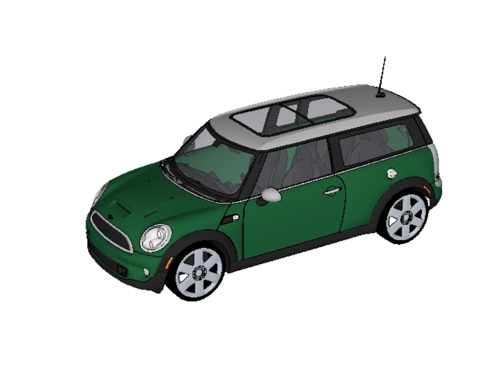 3d mini cooper convertible 3 door car