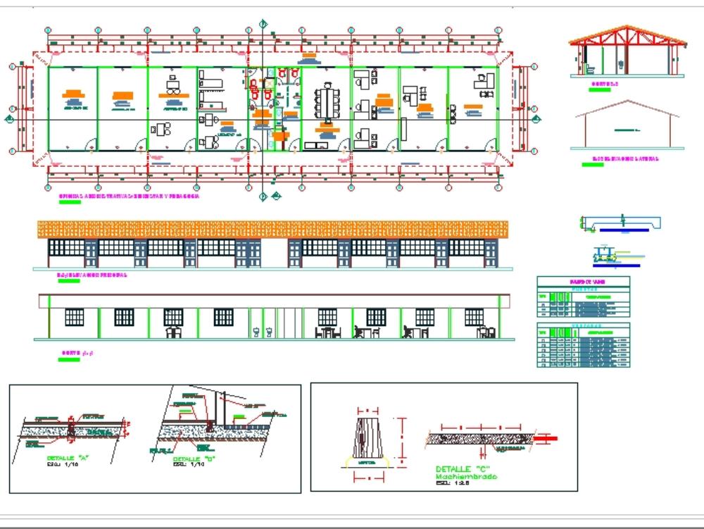 Modulo drywall - centro educativo