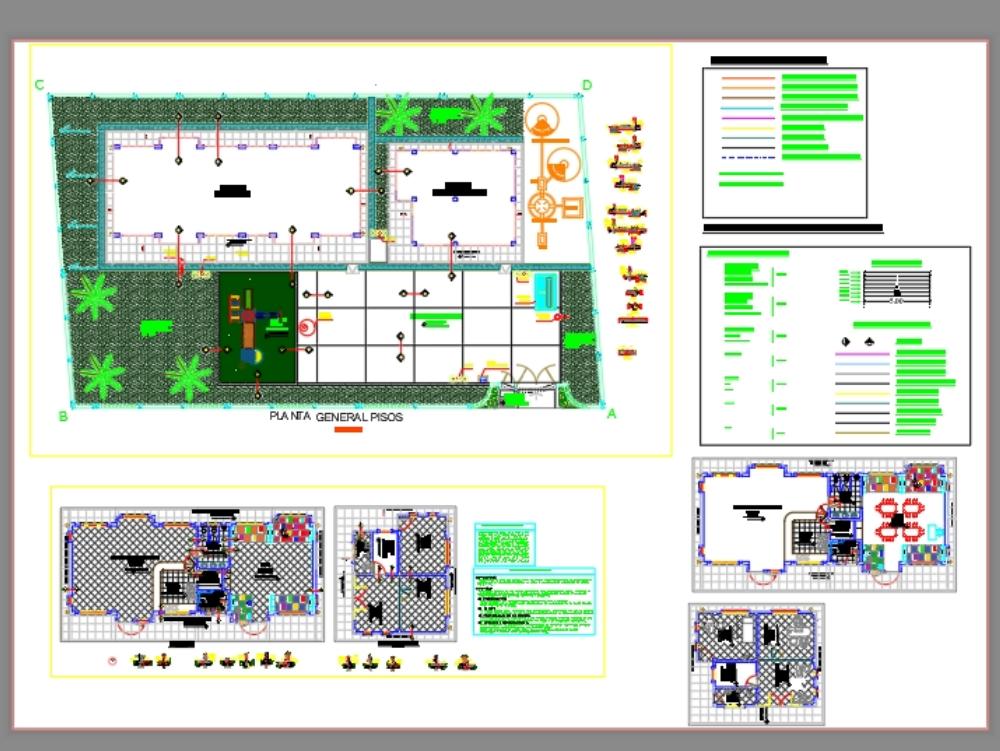 Detalle de pisos interior y exterior