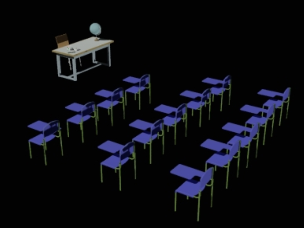 Mobiliario salón de escuela
