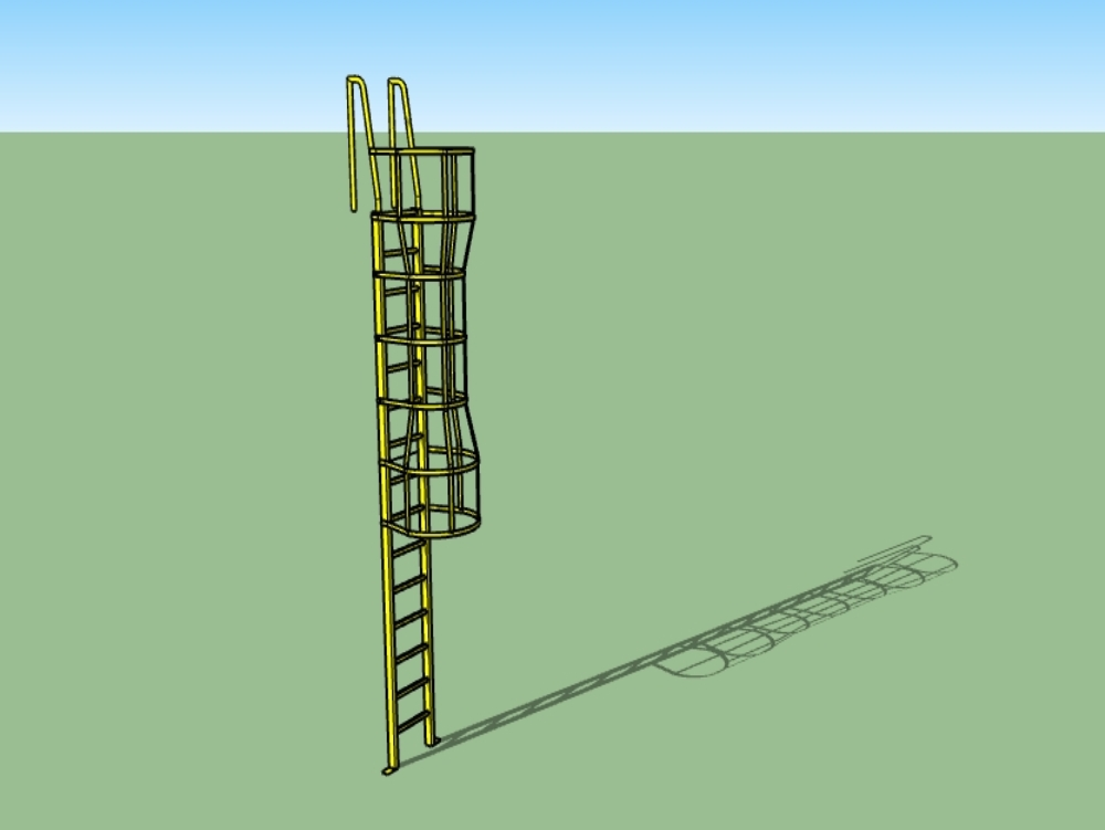 Marine metal ladder