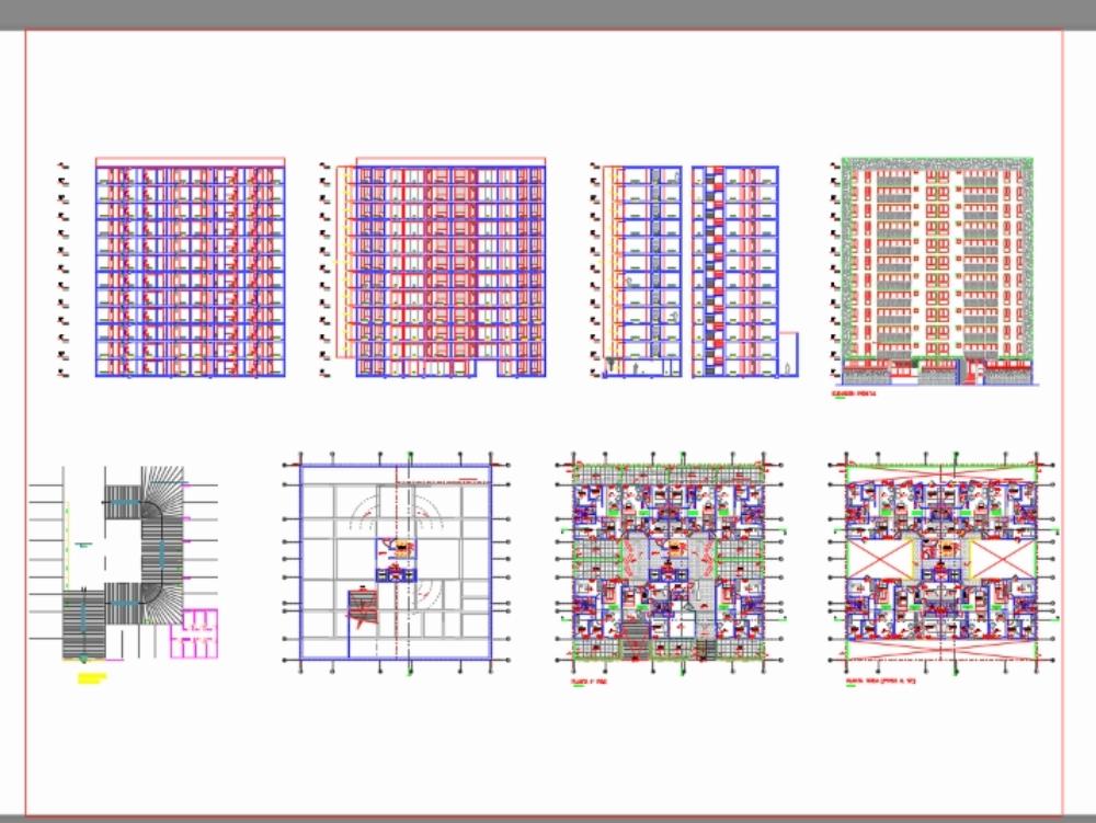 Proyecto de vivienda multifamiliar 12 niveles