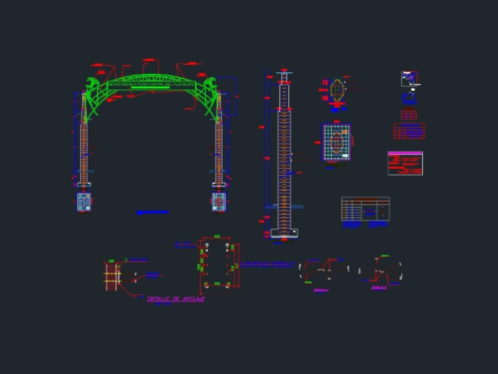 Detalle de estructura puerta urbana