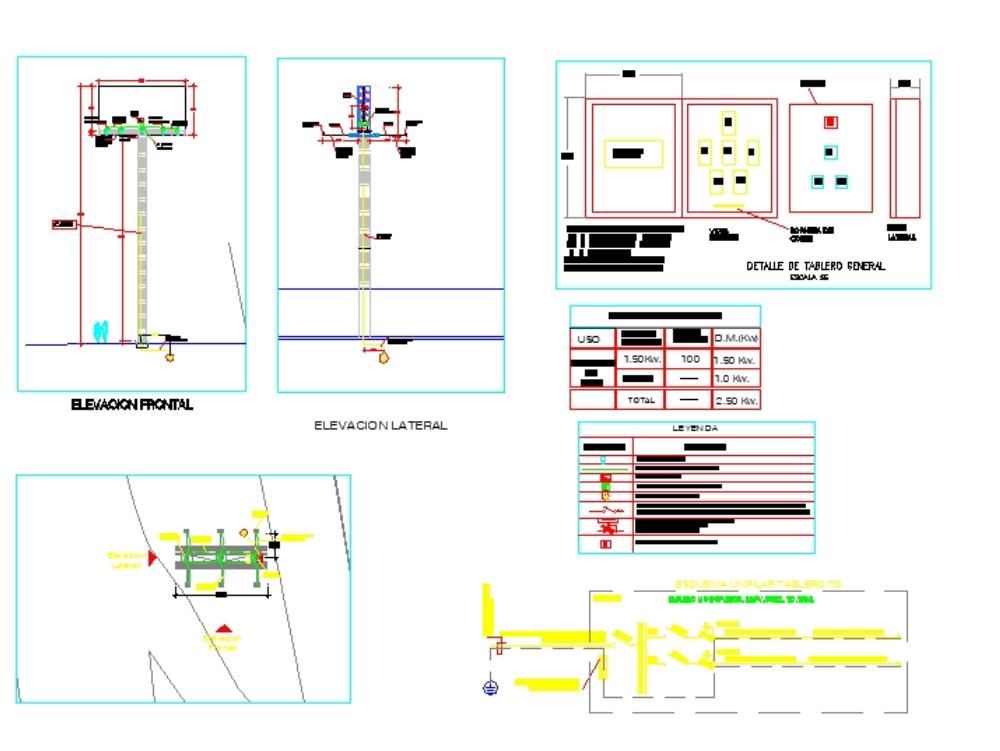 Proyecto eléctrico de paneles publicitario