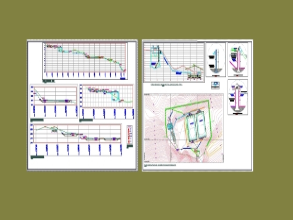 General plan of wastewater treatment plant