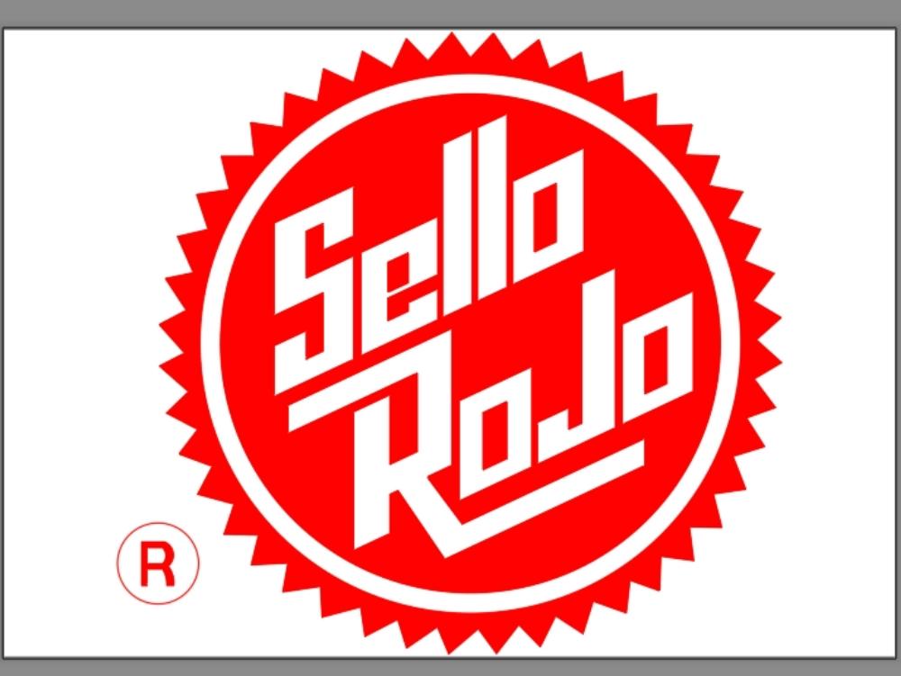 Logotipo de compañia del sello rojo