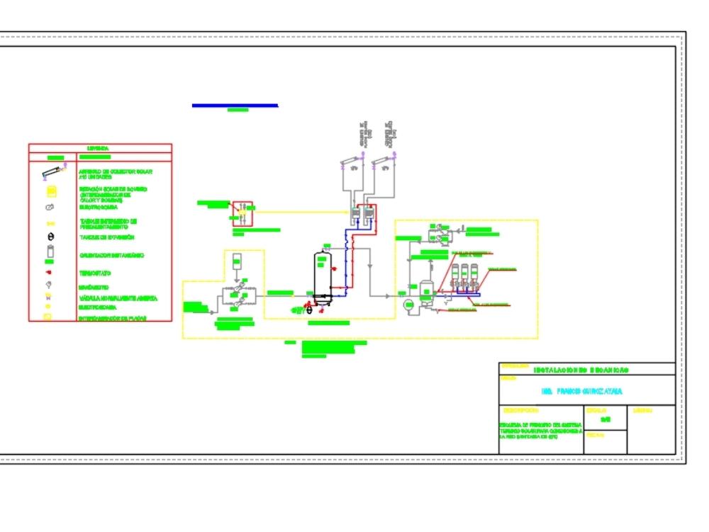 Principle scheme-solar thermal system