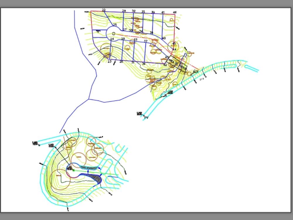 Topographic survey of the new highland bridge
