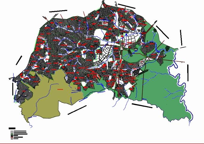 Map of aparecida de goiânia - goiás
