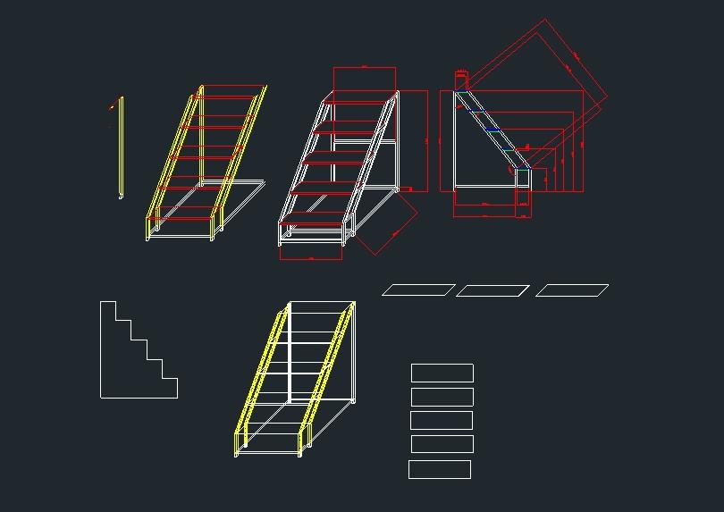 1300mm tall ladder design