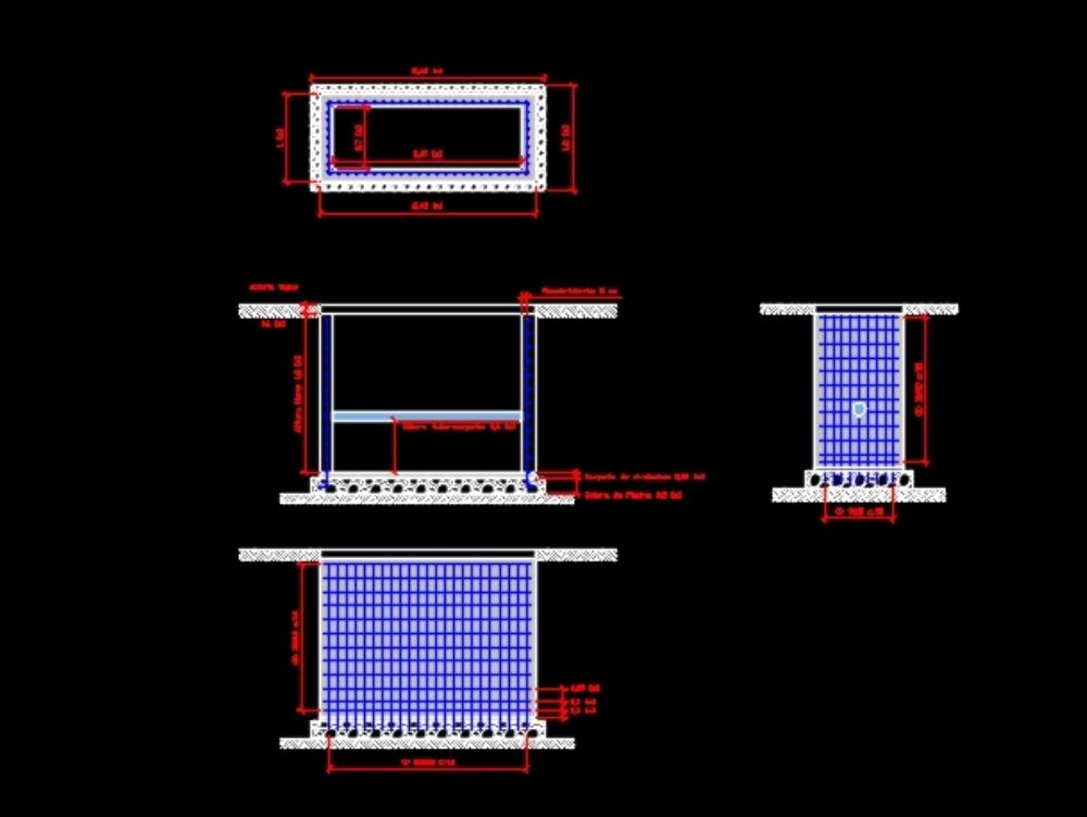 Diseño estructural de cámara reductora