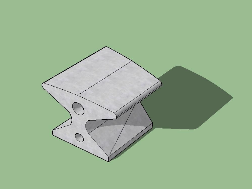 Banca sencilla en concreto modular