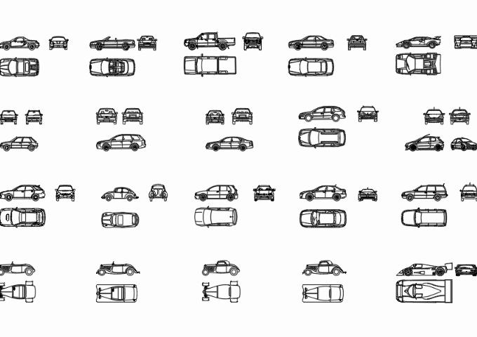 Cars cad blocks