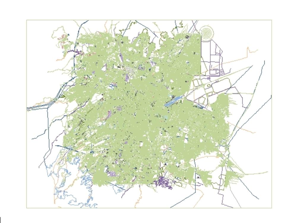 Mapa ciudad de mexico distrito federal