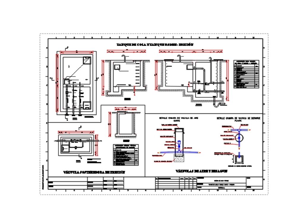 Tanque de cola y rompe presión (agua potable)
