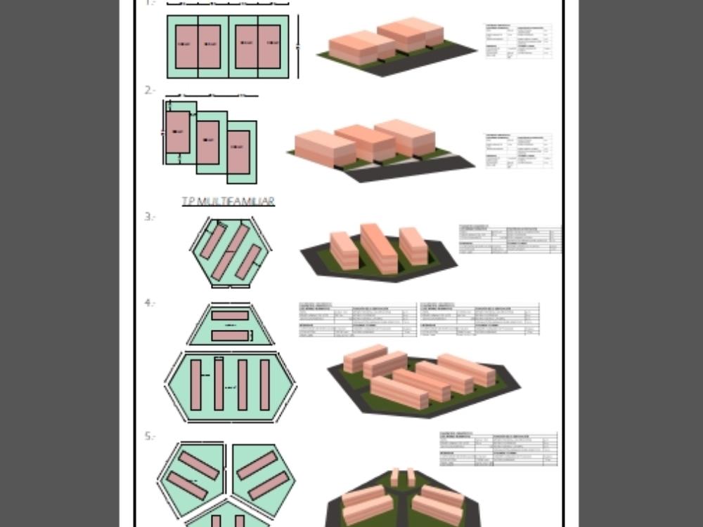 Parámetros edificatorios de viviendas