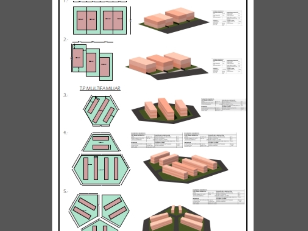 Housing building parameters