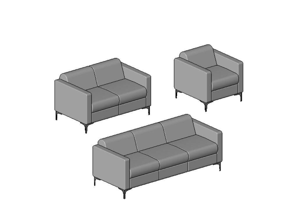 Adjustable revit armchair - settee