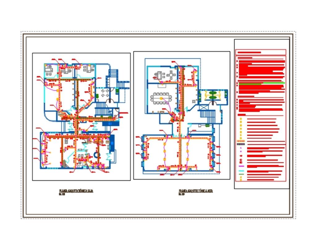 Video surveillance installations; voice and data