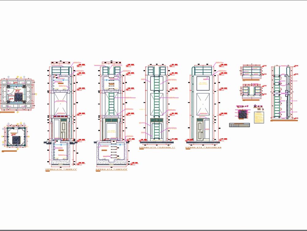Tanque elevado: arquitectura - carpintería metálica