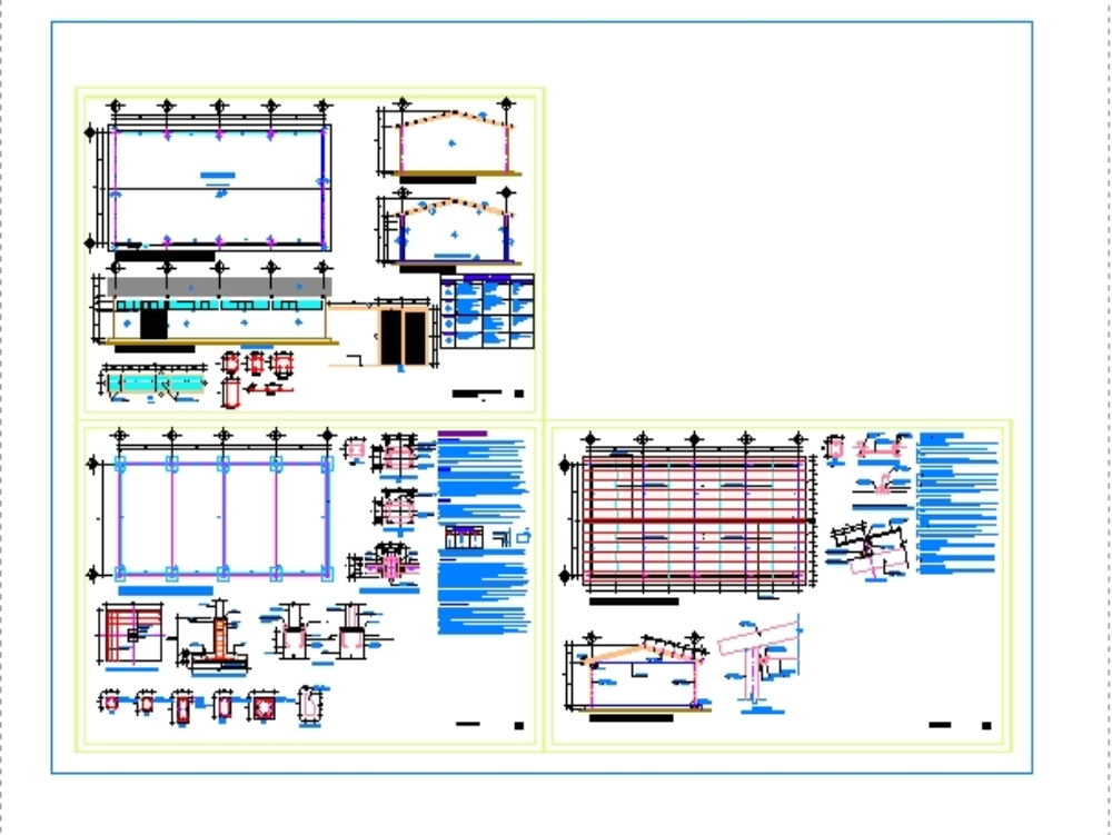 Industrial warehouse plan