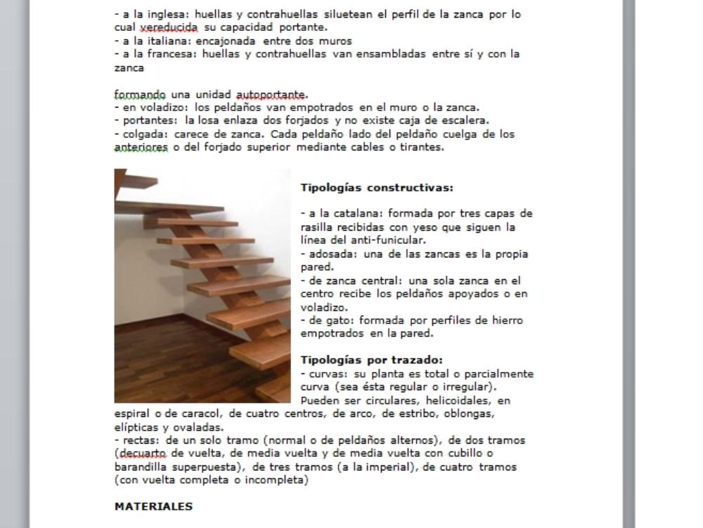 Escaleras empotradas de madera y acero
