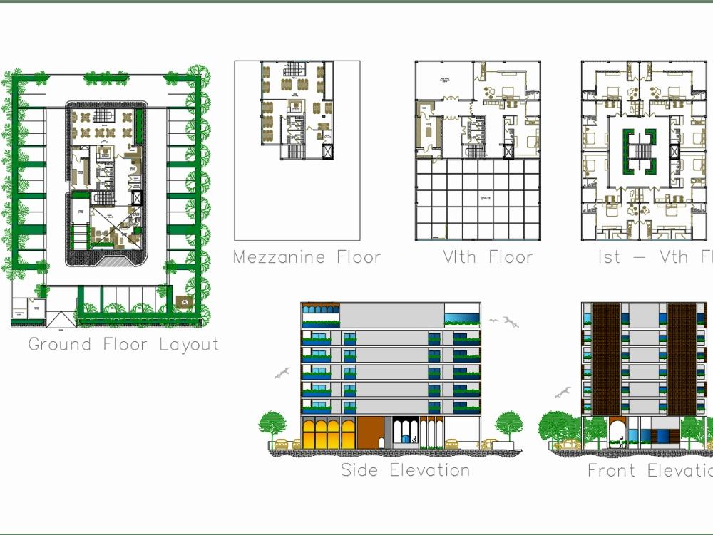 Commercial hotel design - multi levels