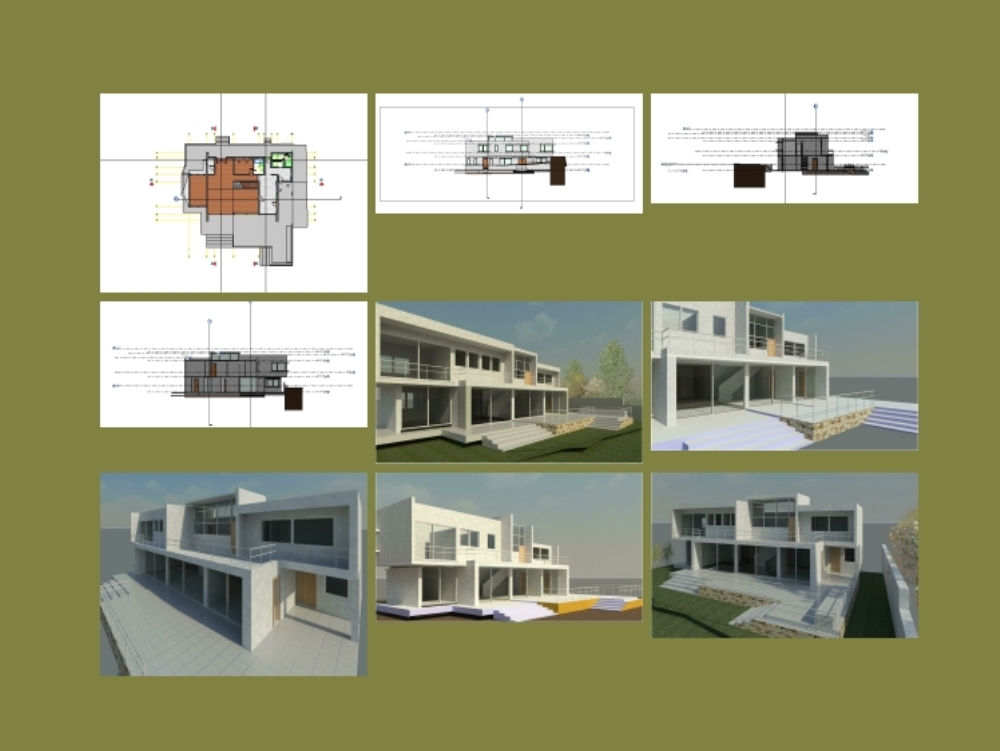 House 2 levels in revit