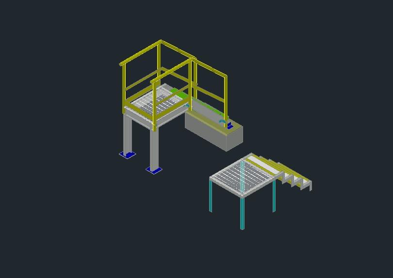 Metal platform construction detail