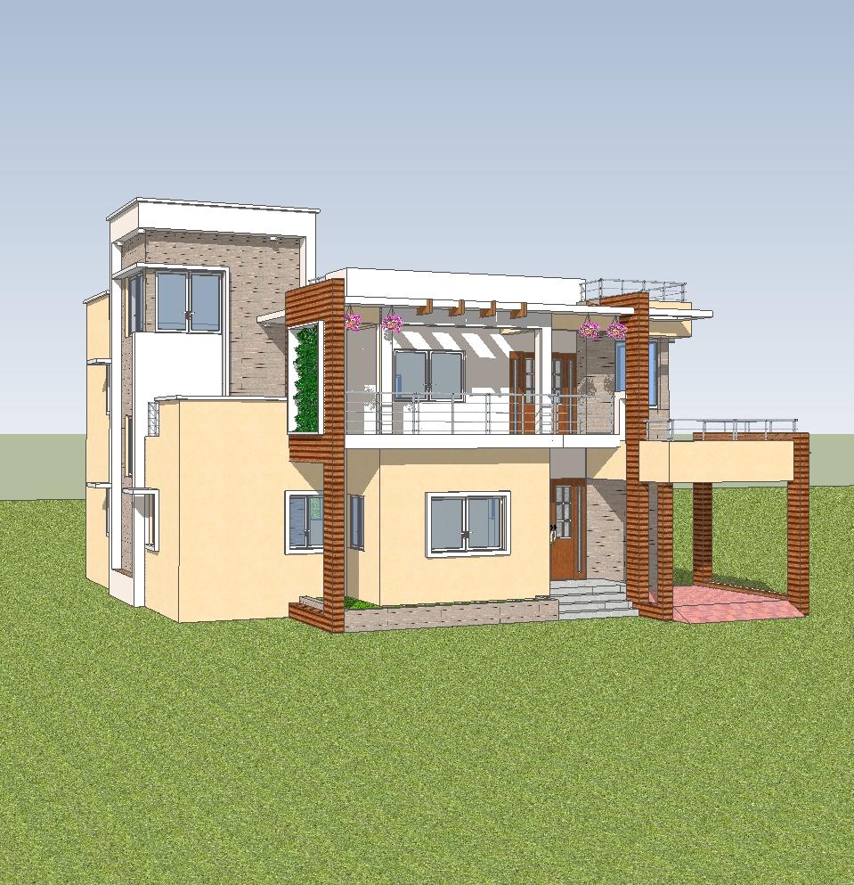 Indian duplex house