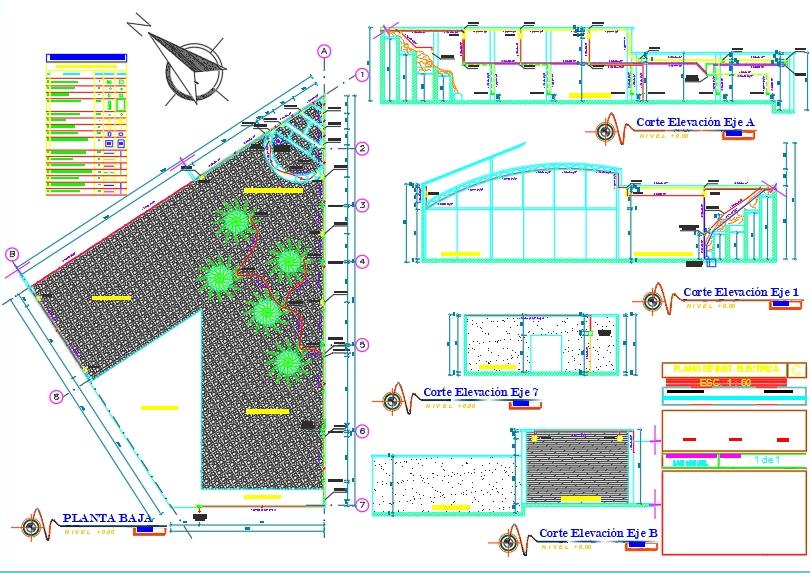Plano eléctrico y sistema de bomba de agua