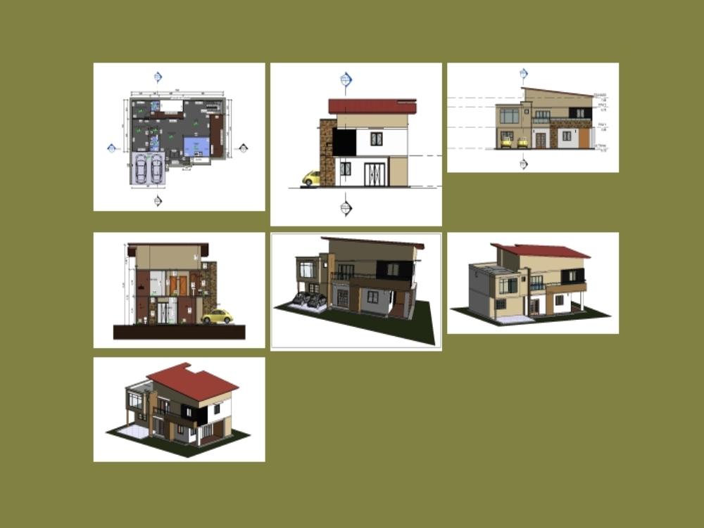 Projeto casa com dois pavimentos