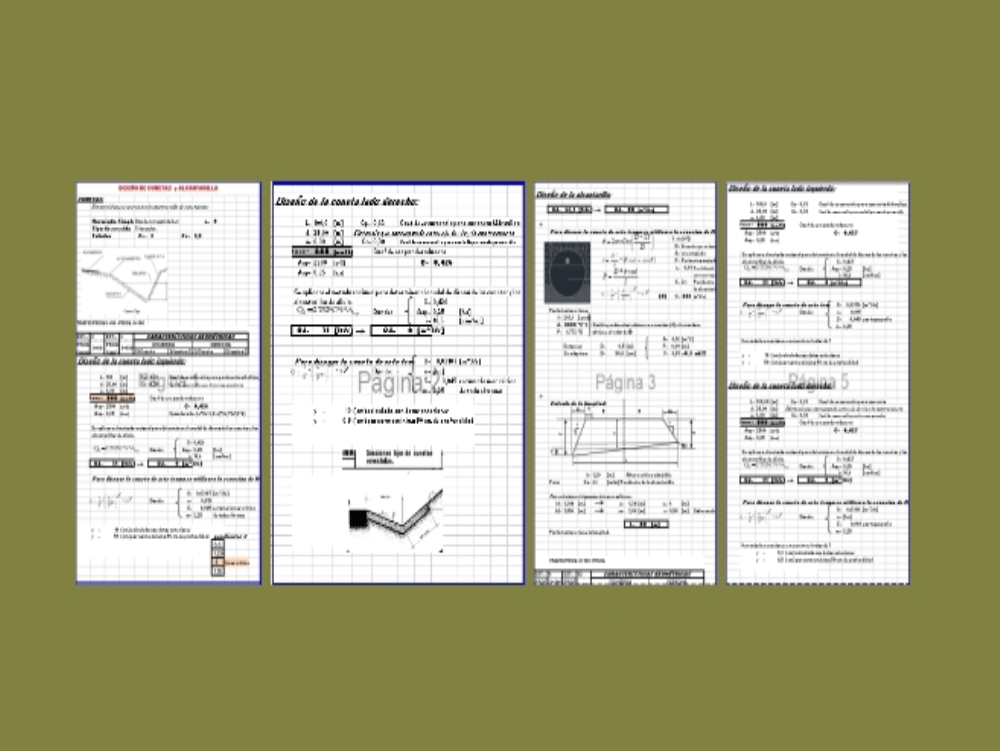 Ditch and culvert design excel spreadsheet