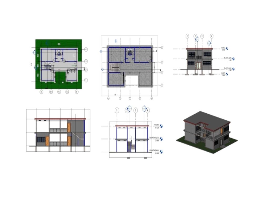 Communal house 2 floors