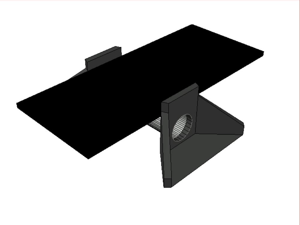 Modelo 3d de un box en autocad para implantar