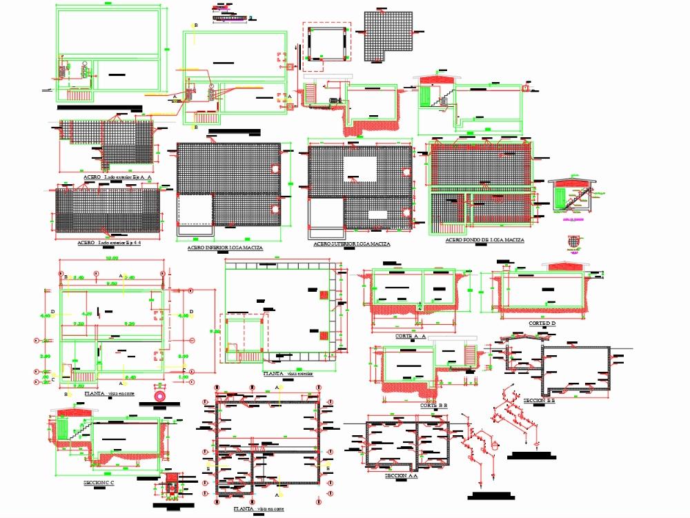 Estructura de cisterna soterrada_