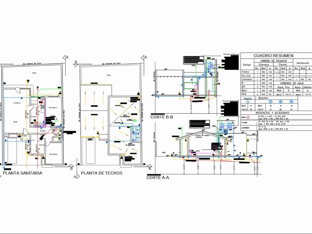 Sanitary plan of housing