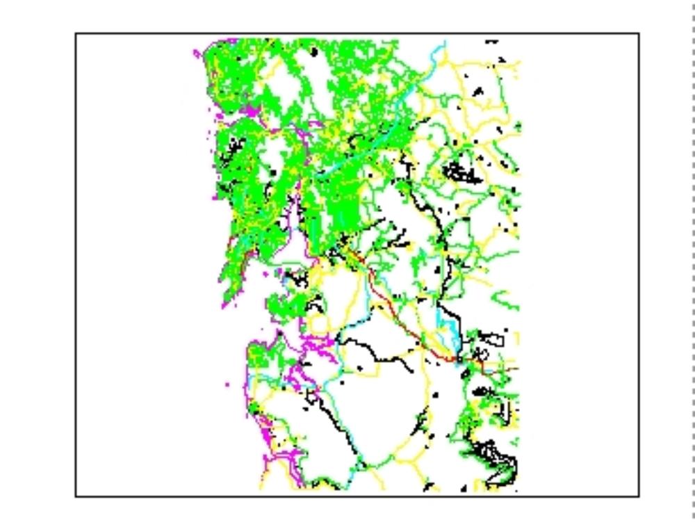 Mumbai. contour levels - topography