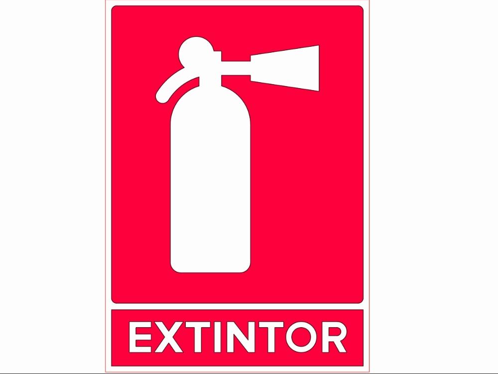 Letrero señalamientos de extintor