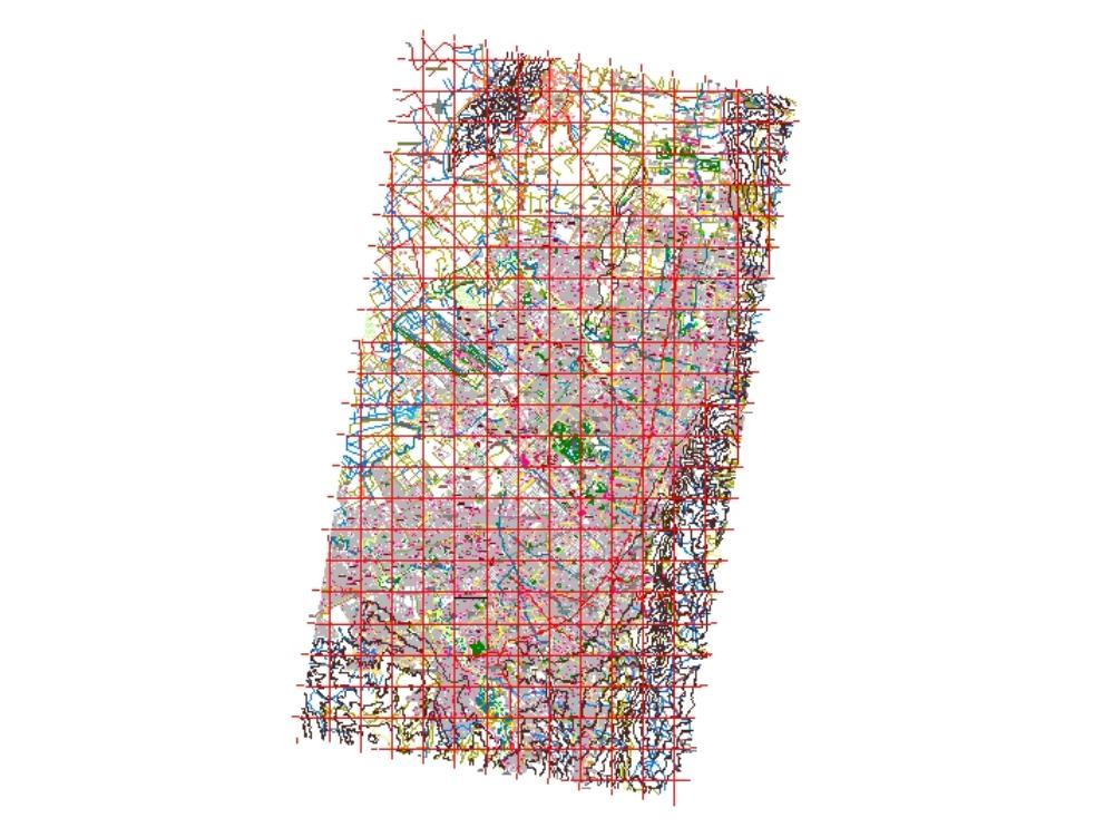 Coordenadas de bogota vas barrios y distribución