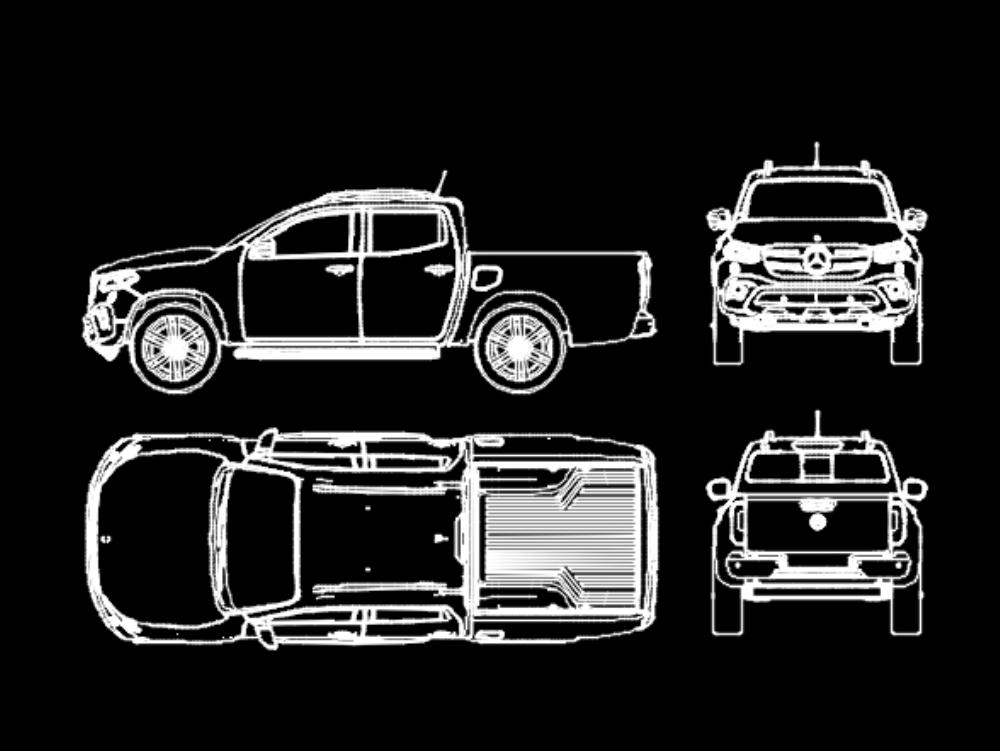 Mercedes-benz 4x4 pickup class x 2020