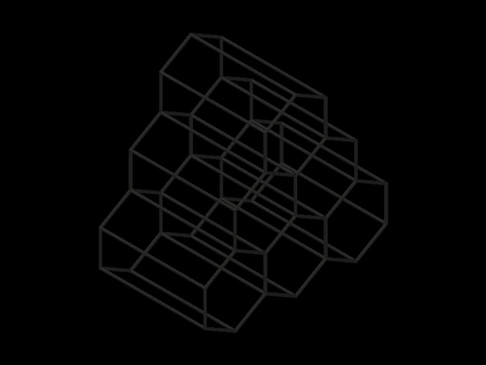 Botellero de vino con soporte hexagonal de acero