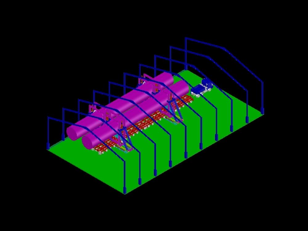 Descarga e instalación del horno rotatorio en la fábrica de papel por cable