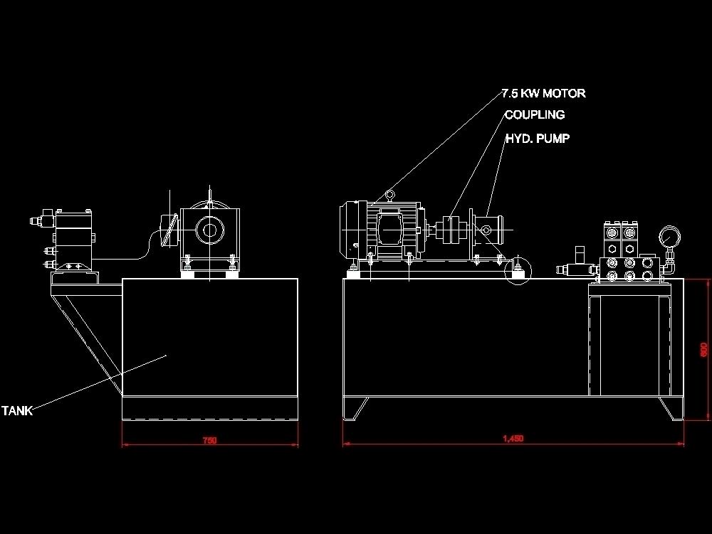 Prensa hidraulica para servicios mecanicos