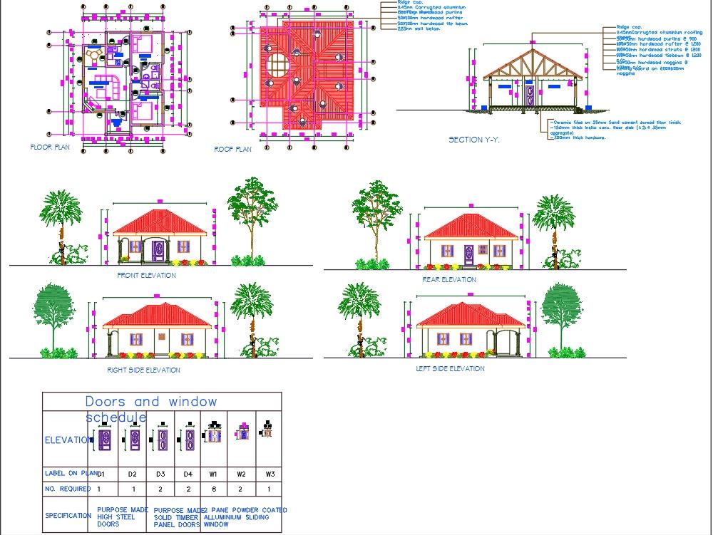 Bungalow de 2 habitaciones y detalles completos